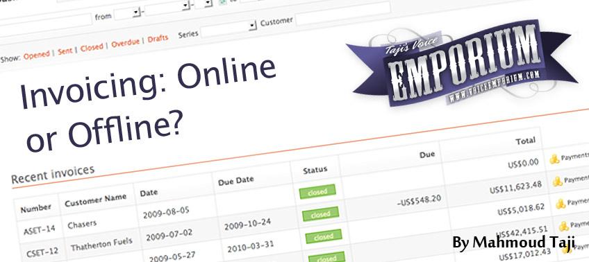 Invoicing: Online or Offline?