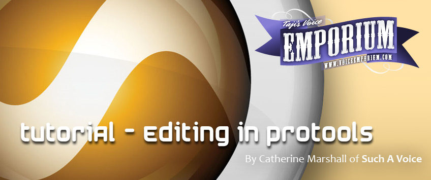 Editing In ProTools - By Catherine Marshall